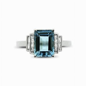 Aquamarine & Diamond Ring - 1.50ct